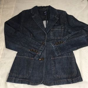 GAP jean blazer sz 6